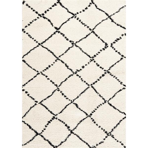 Tapis à diamants Maroq de Kalora, 8' x 11', noir