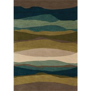Tapis horizons Manika de Kalora, 8' x 11', taupe