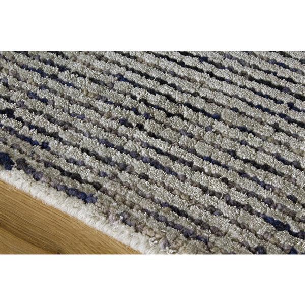 Tapis à pixel Manika de Kalora, 8' x 11', gris