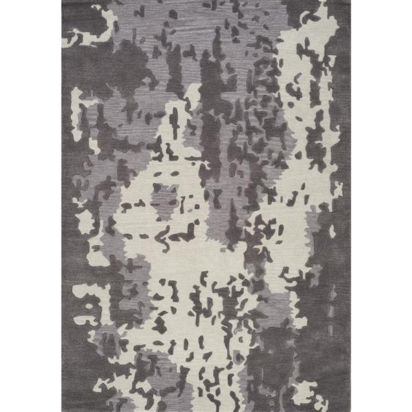 Tapis délavé camouflage Manika de Kalora, 5' x 8', gris