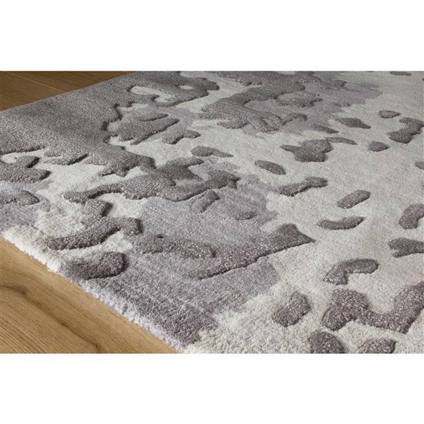 Tapis délavé camouflage Manika de Kalora, 8' x 11', gris