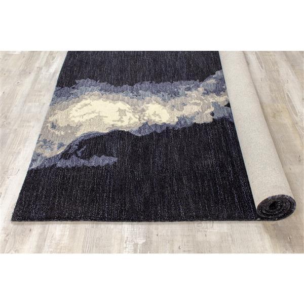 Tapis à motif crevasse Manika de Kalora, 8' x 11', bleu