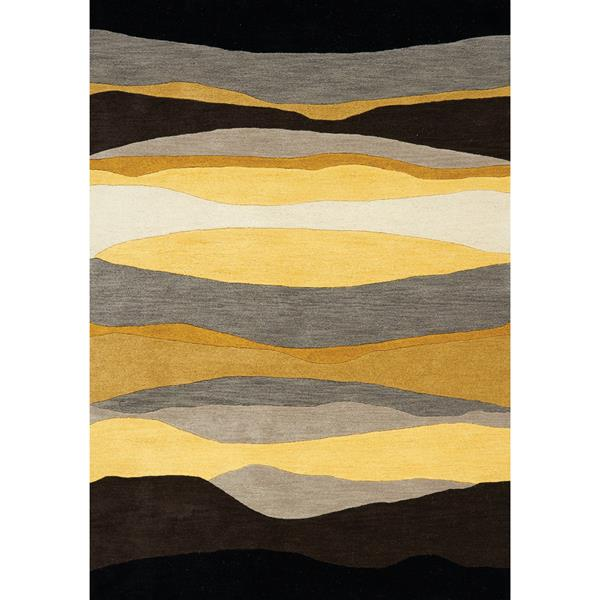 Tapis horizons Manika de Kalora, 5' x 8', noir