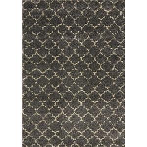 Tapis chalereux Lane de Kalora, 8' x 11', gris