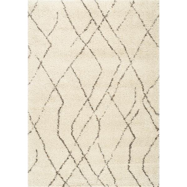Kalora Lane Distressed Tribal Rug - 5' x 8' - Cream