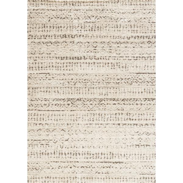 Tapis délavé tribal Lane de Kalora, 2' x 4', crème