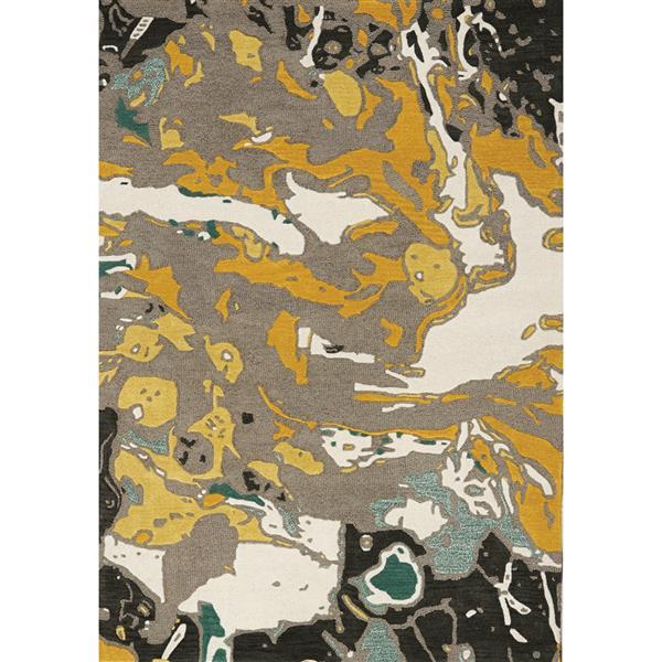 Tapis fait à la main Kaleido de Kalora, 8' x 11', gris