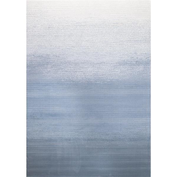 Tapis délavé Intrigue de Kalora, 8' x 11', blanc