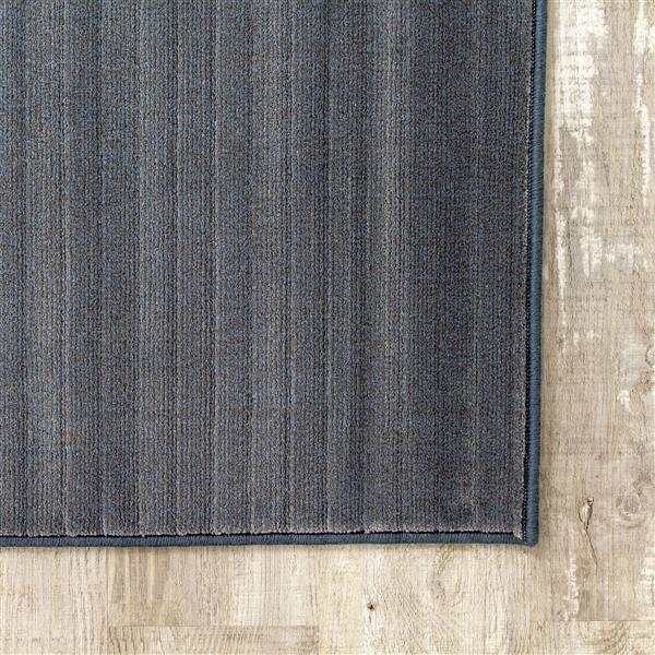 Tapis délavé Intrigue de Kalora, 5' x 8', blanc