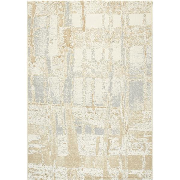 Kalora Intrigue Irridecant Reflects Rug - 2' x 4' - Cream