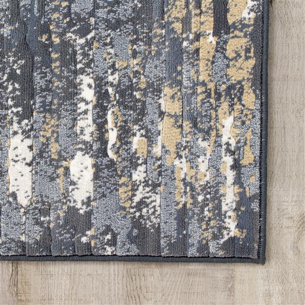 Tapis délavé Intrigue de Kalora, 5' x 8', beige