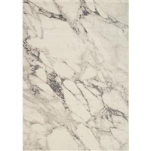 Tapis marbre Infinity, crème