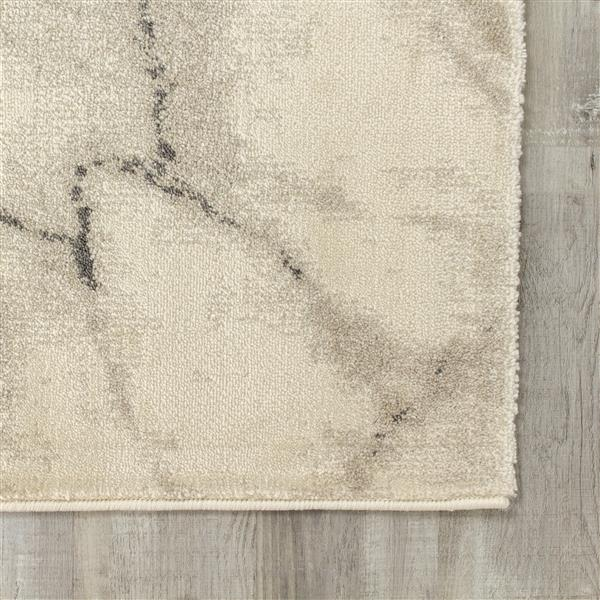 Tapis marbre Infinity de Kalora, 5' x 8', crème