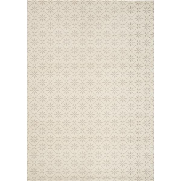 Tapis à carreaux Infinity de Kalora, 8' x 11', crème