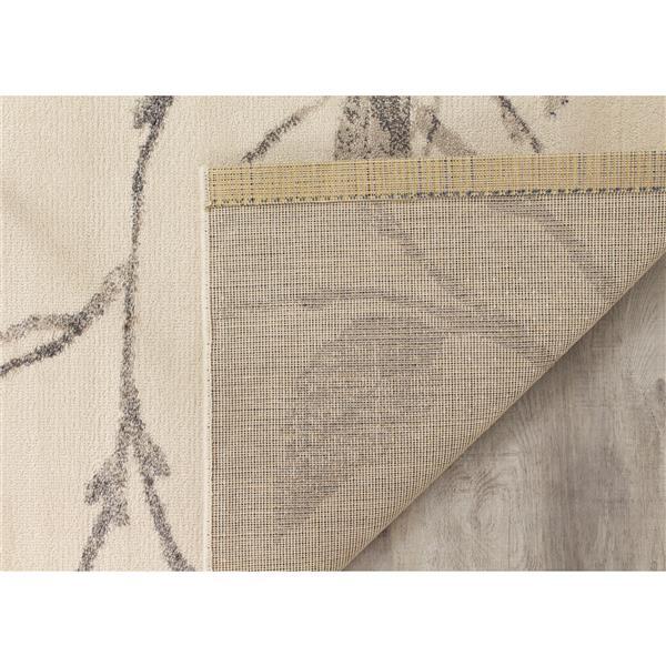 Kalora Infinity Gentle Leaves Rug - 5' x 8' - Cream