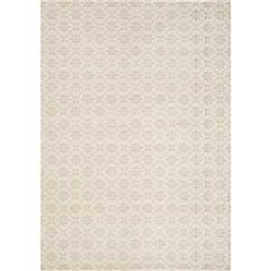 Tapis à carreaux Infinity de Kalora, 5' x 8', crème