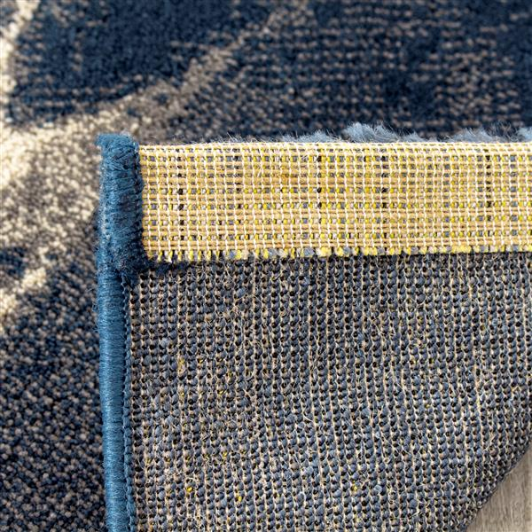 Tapis Infinity de Kalora, 5' x 8', bleu