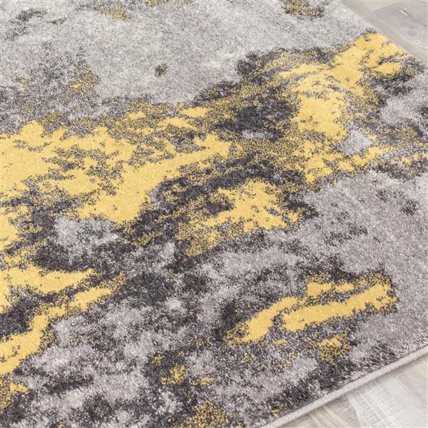 Tapis abstrait Freemont de Kalora, 8' x 11', jaune
