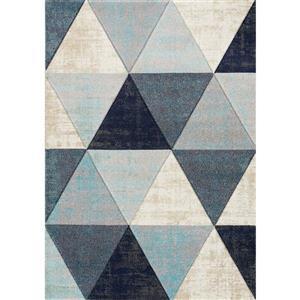 Tapis triangles délavés Freemont, bleu