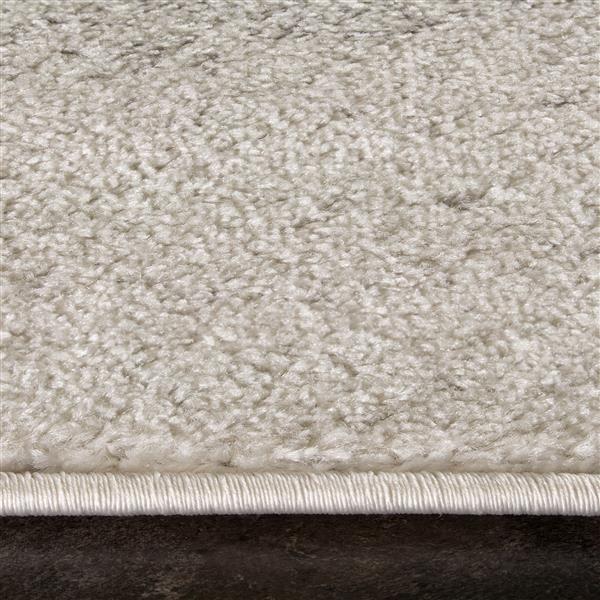 Tapis rectangulaire Focus de Kalora, 5' x 8', gris