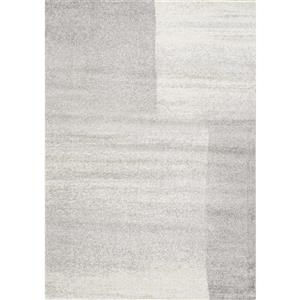 Tapis rectangulaire Focus de Kalora, 8' x 11', gris
