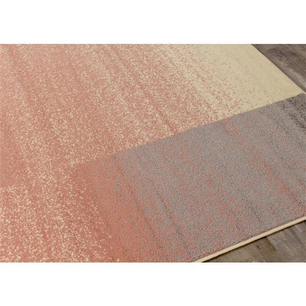 Tapis gradient Focus de Kalora, 5' x 8', rose