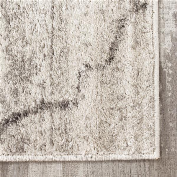 Tapis classique ogee Focus de Kalora, 2' x 4', gris pâle