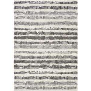 Tapis à rayures Focus de Kalora, 7' x 10', gris