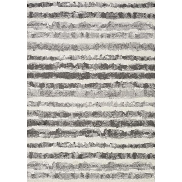 Tapis à rayures Focus de Kalora, 8' x 11', gris