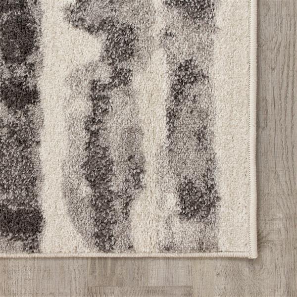 Tapis à rayures Focus de Kalora, 5' x 8', gris