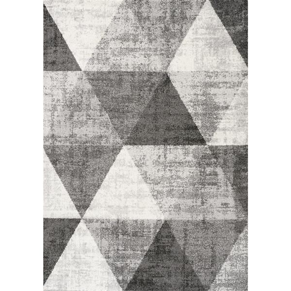 Tapis triangles Focus de Kalora, 8' x 11', gris
