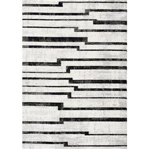 Kalora Focus Pathway Stripes Rug - 5' x 8' - Cream