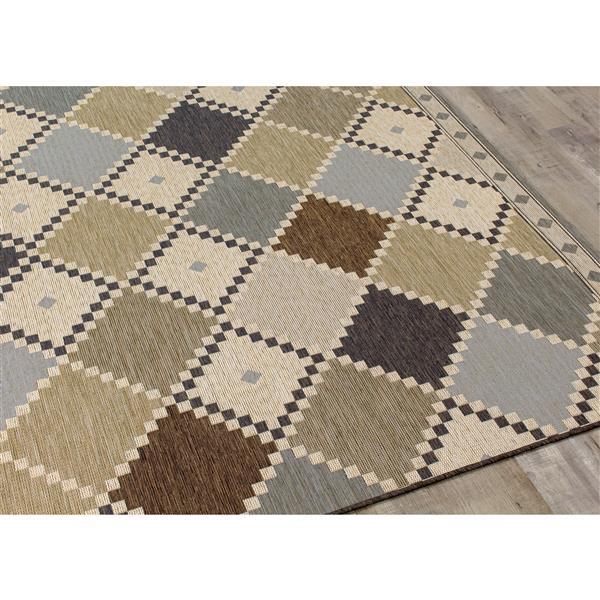 Kalora Domain Checkerboard Quilt Rug - 8' x 11' - Grey