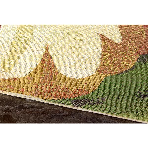Tapis à fleurs Domain de Kalora, 8' x 11', crème