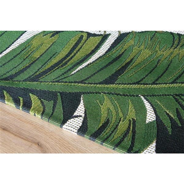 Tapis jardin botanique Domain de Kalora, 5' x 8', vert