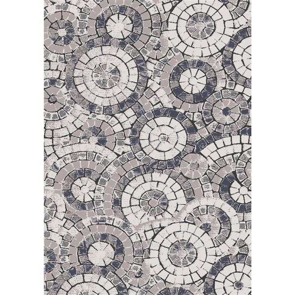 Tapis mosiaque Darcey de Kalora, 5' x 8', gris