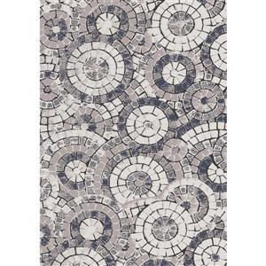 Kalora Darcey Mosaic Circles Rug - 5' x 8' - Grey