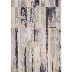 Kalora Darcey Distressed Rectangles Rug - 5' x 8' - Grey