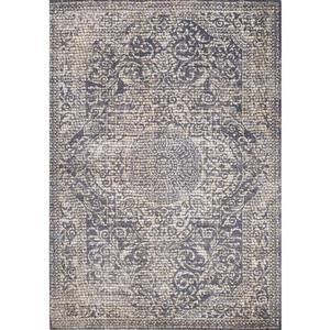 Kalora Darcey Small Squares Traditional Rug - 5' x 8' - Grey