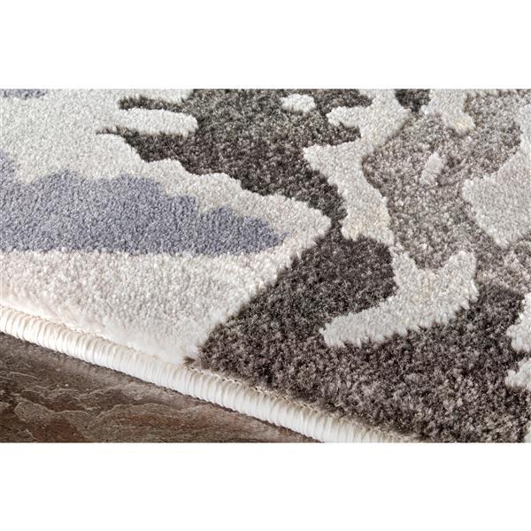 Tapis botanique Darcey de Kalora, 5' x 8', crème