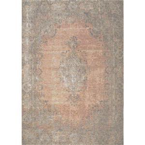 Kalora Cathedral 8' X 11' Salmon/Grey Traditional Border Area Rug