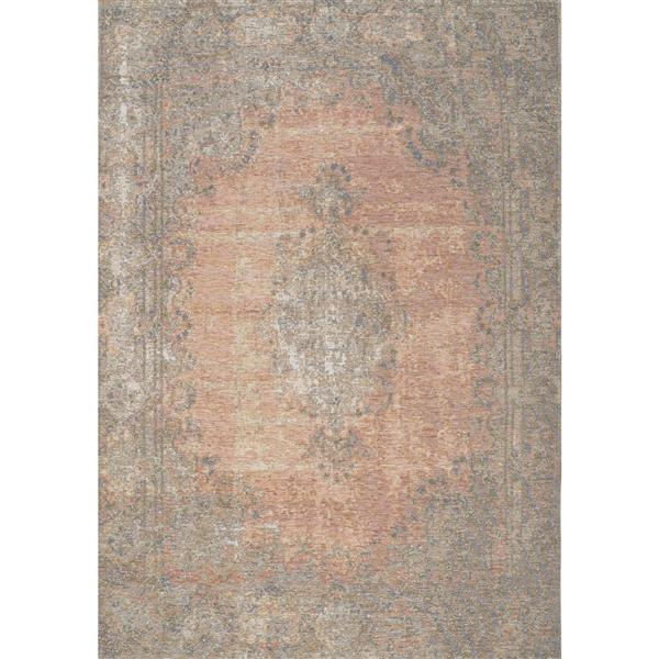 Tapis traditionnnelle Cathedral de Kalora, 5' x 8', saumon
