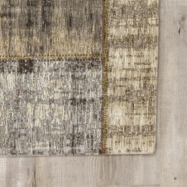 Tapis délavé Cathedral de Kalora, 8' x 11', gris