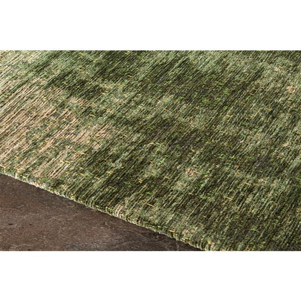 Tapis délavé Cathedral de Kalora, 5' x 8', vert
