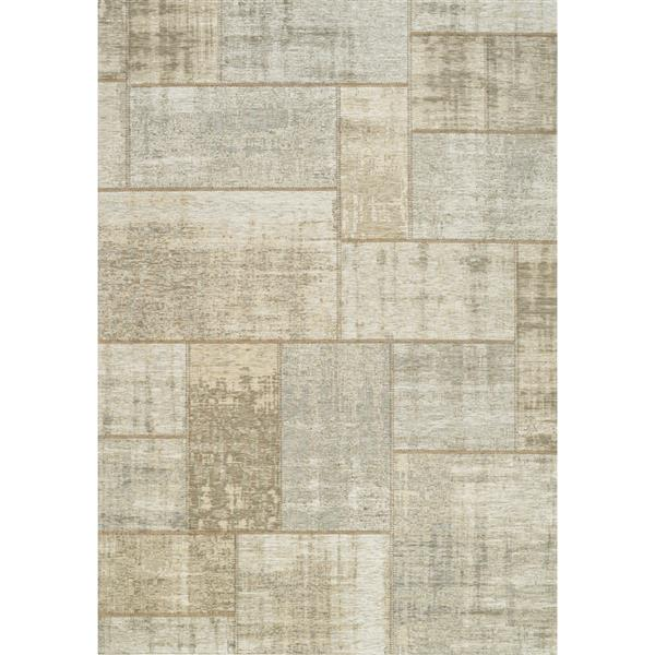 Kalora Cathedral Distressed Patchwork Rug - 8' x 11' - Cream