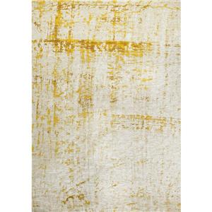 Tapis shabby chic Cathedral de Kalora, 8' x 11', crème