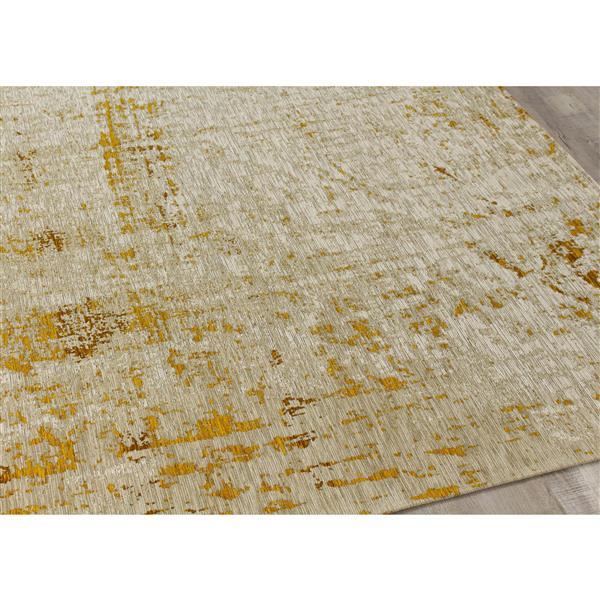 Tapis shabby chic Cathedral de Kalora, 5' x 8', crème