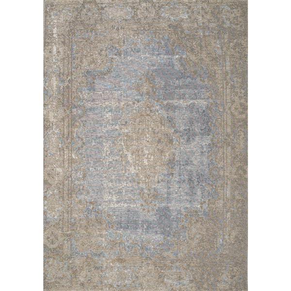 Tapis traditionnnel Cathedral de Kalora, 8' x 11', bleu