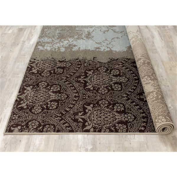 Tapis Casa transitionnel de Kalora, 7' -x 10', charbon