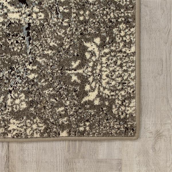 Tapis Casa transitionnel de Kalora, 2' x 4', charbon